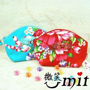 【微笑MIT】雅人時尚/藝寶-花布貝殼包 Y101-0379(四款)