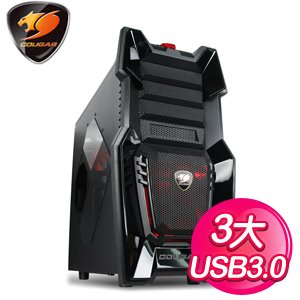 偉訓 Cougar 6HM6挑戰者 黑3大電腦機殼