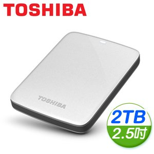 Toshiba 東芝 Canvio Connect V7 2TB USB3.0 2.5吋行動硬碟《銀》