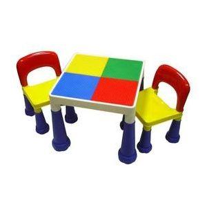 【孩子國】大象腳積木桌椅組★送網袋及100顆小積木